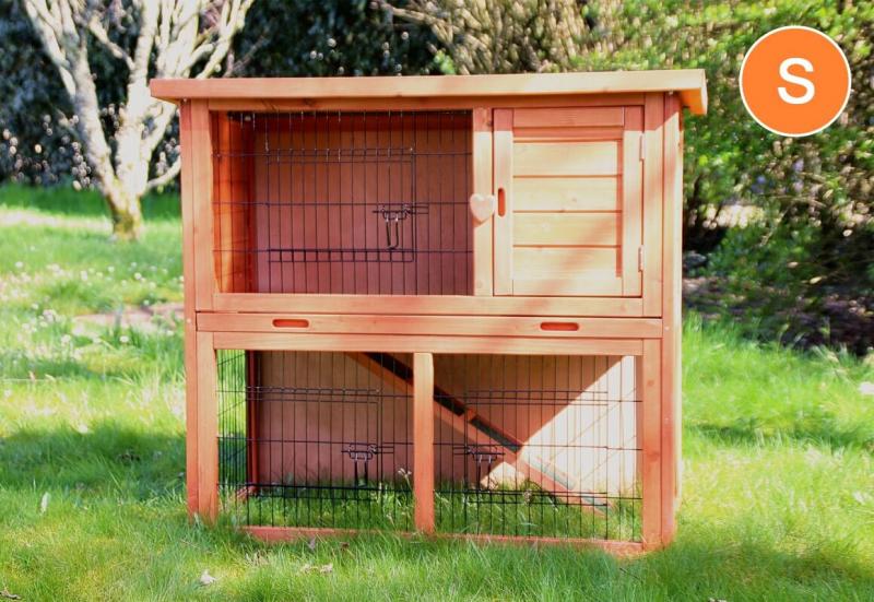 kaninchenstall belino f r kaninchen und nagetiereof im gr nen und schublade. Black Bedroom Furniture Sets. Home Design Ideas