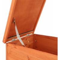 Abri avec rampe et toit ouvrable - de 42 à 60 cm - Zolia Canel disponible en plusieurs tailles pour lapin, rongeurs, poules