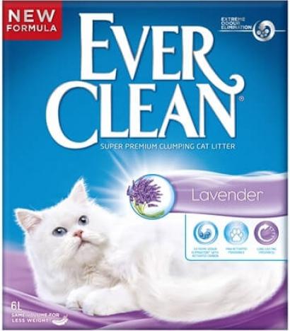 Litière agglomérante parfumée à la lavande EVER CLEAN