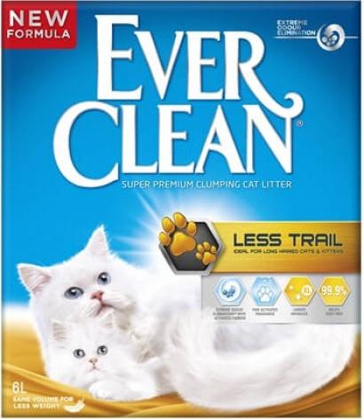 Litière chaton et chats à poils longs agglomérante EVER CLEAN 6 Litres