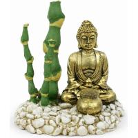 Décor diffuseur d'air Bouddha Doré avec bambous