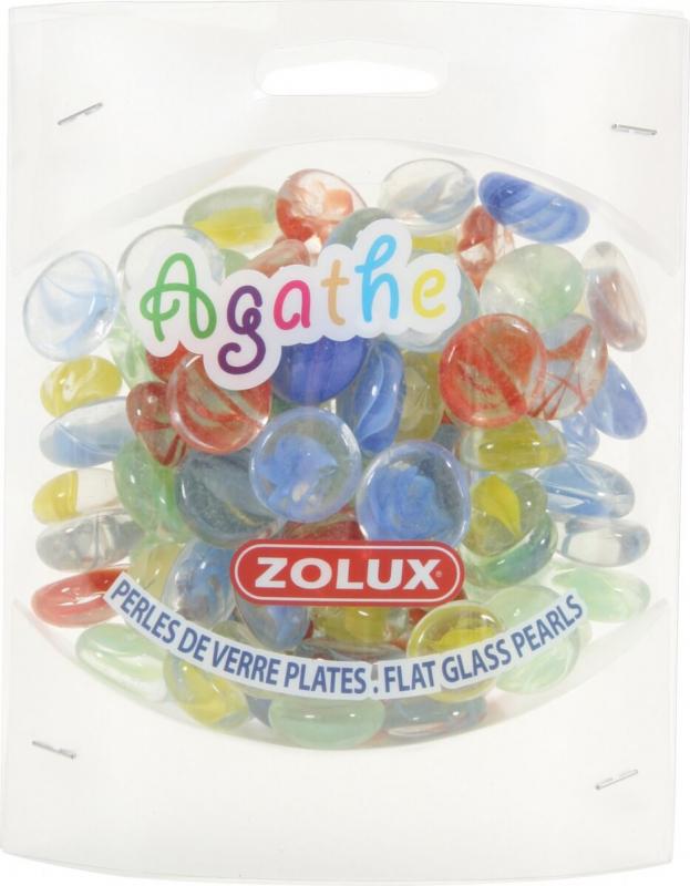 Perles de verre Agathe