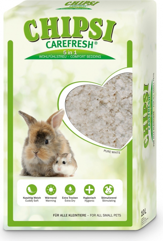 Litière Carefresh Pure White pour petits mammifères