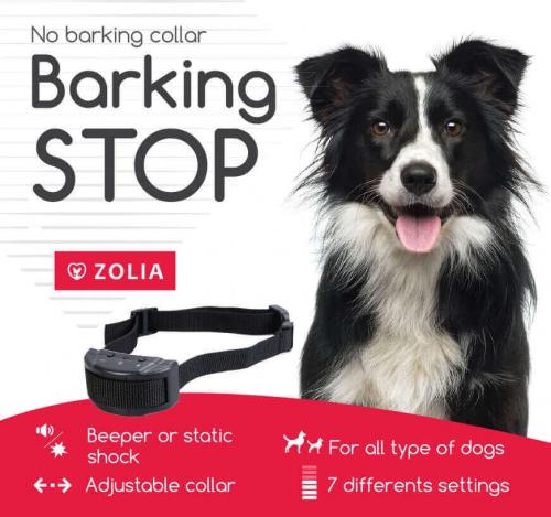Collier anti aboiement Zolia BARKING STOP
