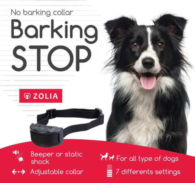 Collier anti-aboiement Zolia BARKING STOP