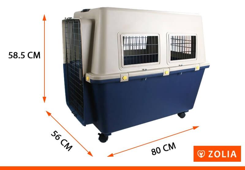 Transportín para perro TRAVELER IATA  ZOLIA de 80 cm a 100 cm _3