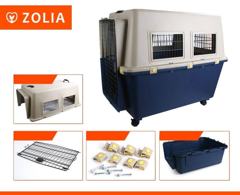 Transportín para perro TRAVELER IATA  ZOLIA de 80 cm a 100 cm _2