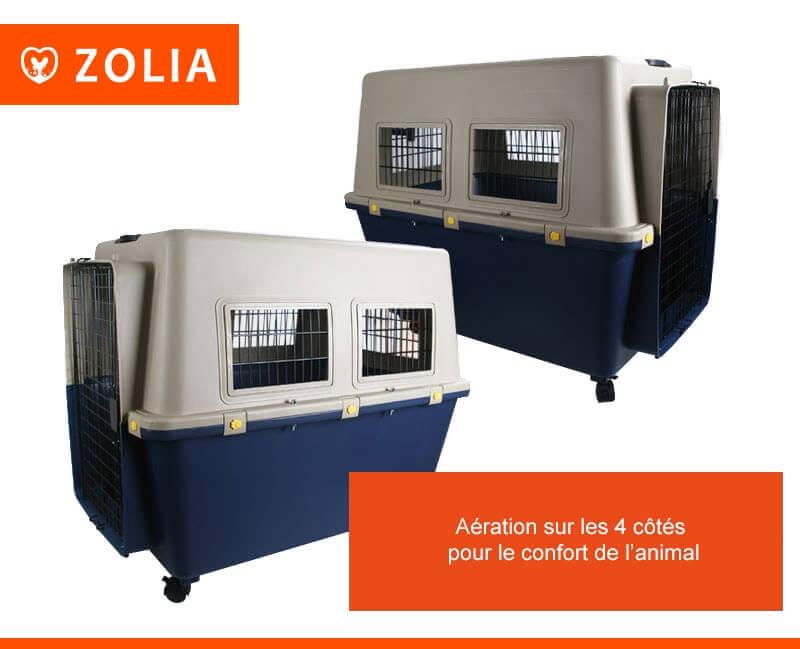 Transportín para perro TRAVELER IATA  ZOLIA de 80 cm a 100 cm _1