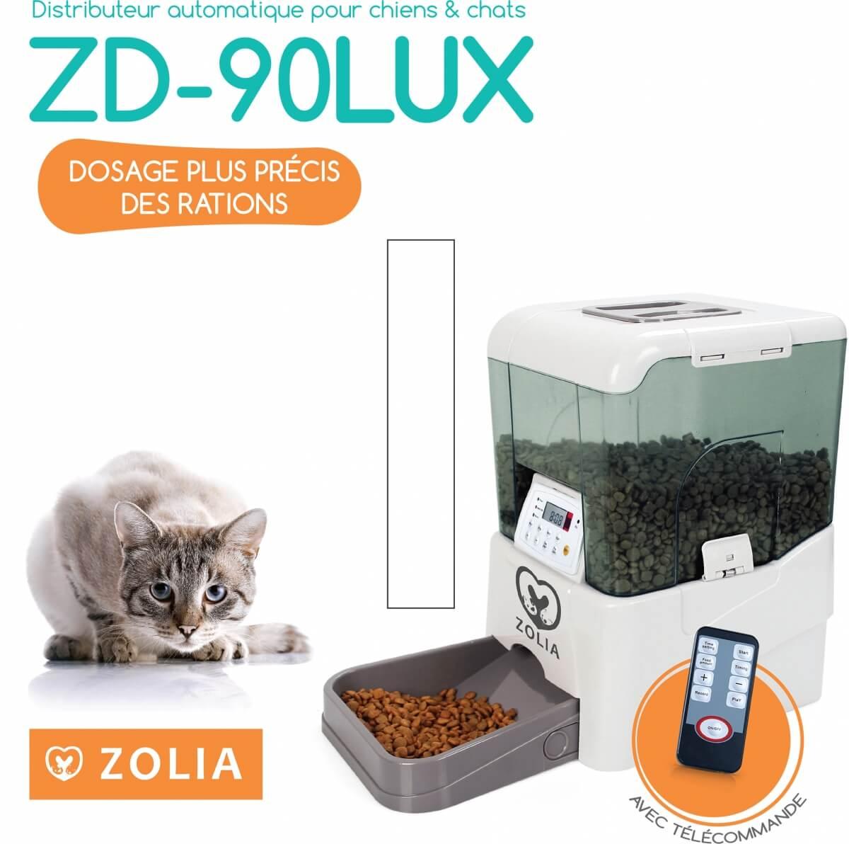 ZD-90LUX- Dispensador automático de pienso perro/gato  _2
