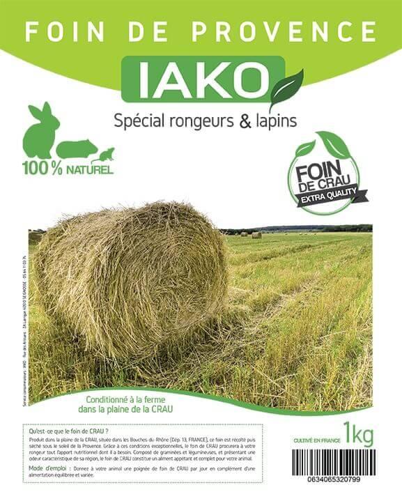Foin de Crau Authentique IAKO 1kg_1