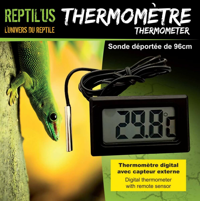 Digital thermometer with external sensor