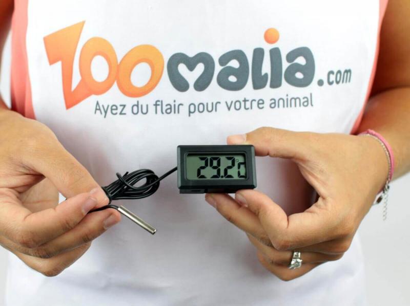 Digitale thermometer met externe sensor REPTIL'US