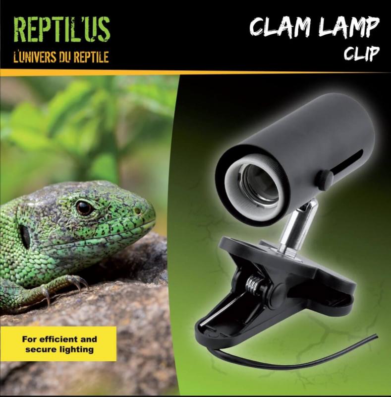 Lamphouder met clip Reptil'us