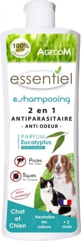 E.SHAMPOOING Antiparasitaire 2EN1 ANTI ODEUR 250ml