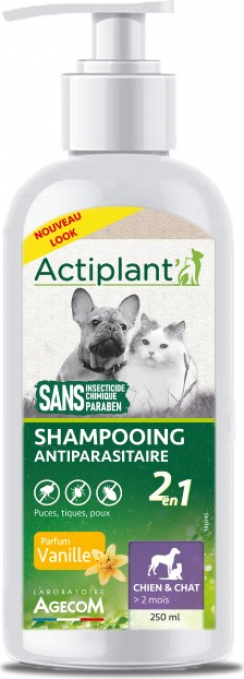 ACTI Shampoo Antiparasitaire 2EN1 VANILLE 250ml