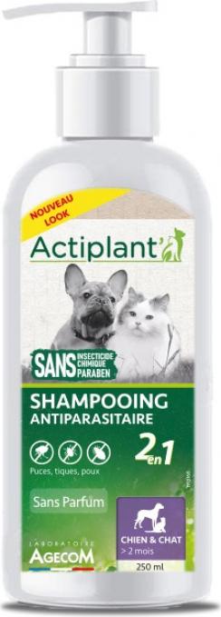 ACTI Shampoo 2en1 Antiparasitaire Chat et Chien 250ml