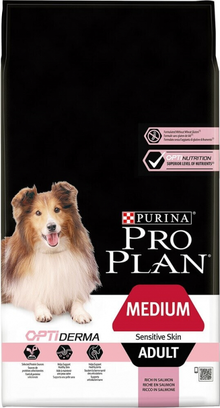 PRO PLAN Medium Adult Sensitive Skin au saumon