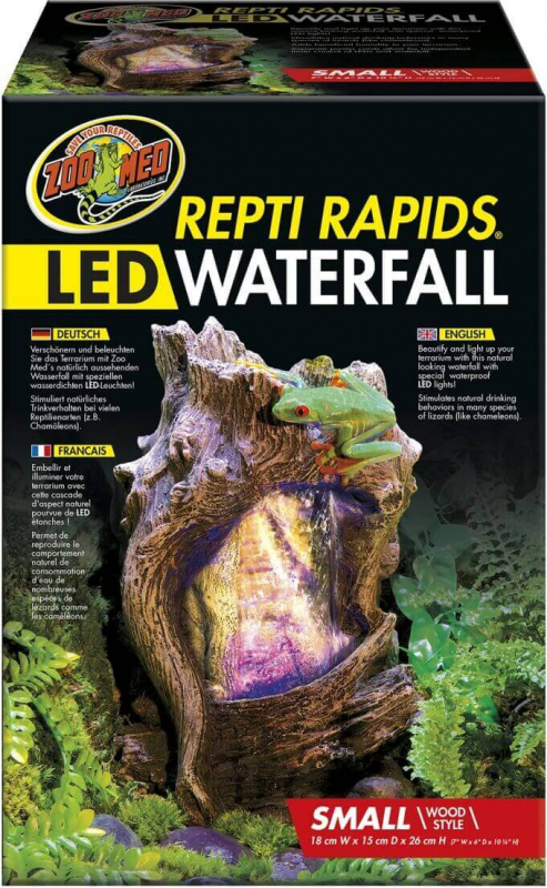Cascade Repti Rapids Wood Style avec LED