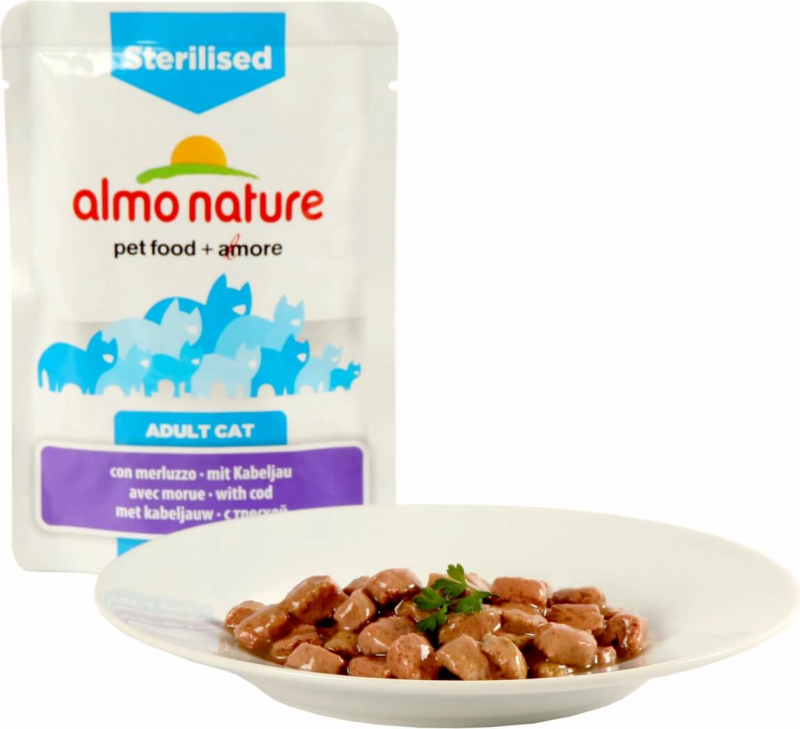 Paté Almo Nature Fonctionnel Stérilised - Diferentes sabores