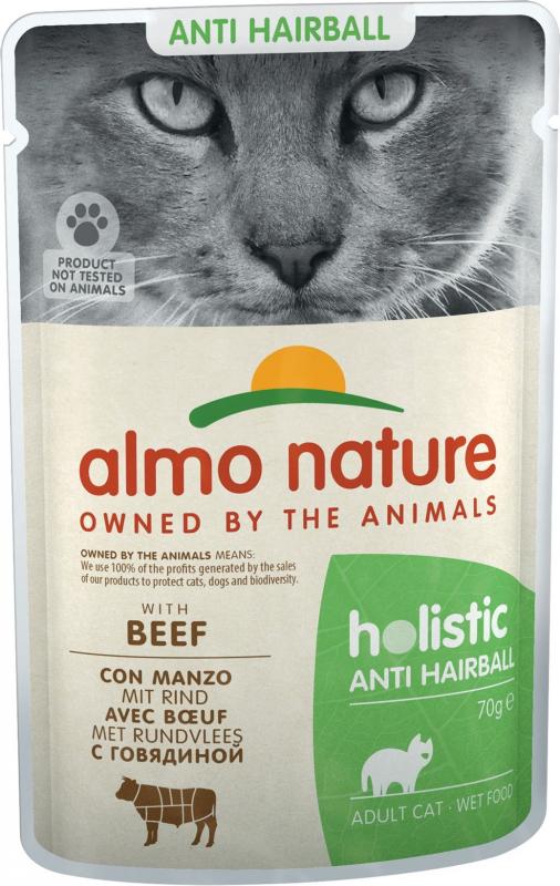 Pâtée ALMO NATURE PFC Anti-Hairball pour chat adulte - 2 saveurs au choix