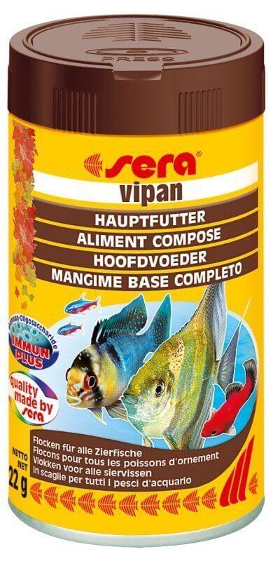 Sera vipan nourriture en flocons for Flocon pour poisson