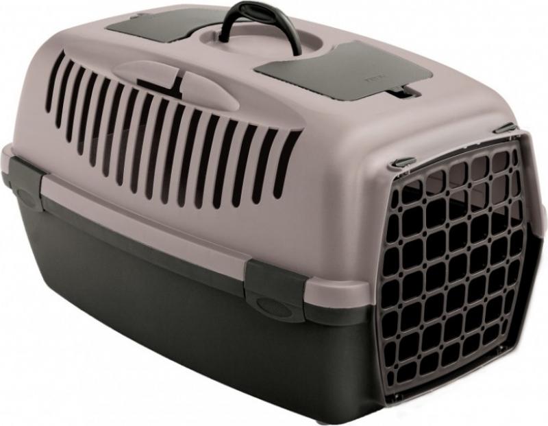 Panier de transport GULLIVER pour chien et chat gris rosé