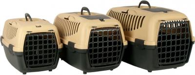 Panier de transport GULLIVER sable et gris pour chien et chat
