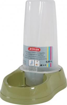 Distributeur mixte antidérapant 0,65L vert