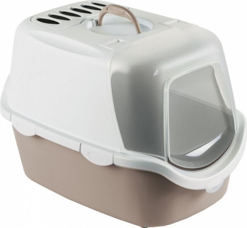 Maison de toilette Cathy Easy Clean pour chat avec pelle intégrée