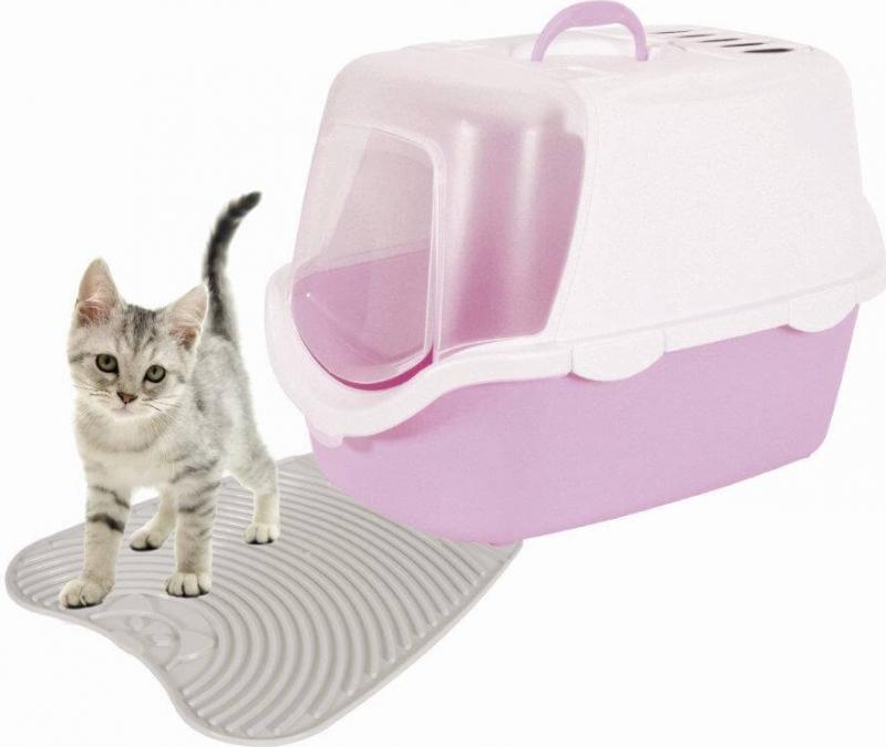 Tapis hygiénique pour maison de toilette ou bac à litière
