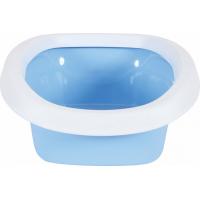 Bac à litière chat bleu