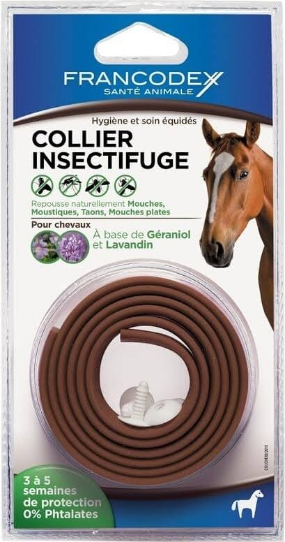 Collier insectifuge pour chevaux