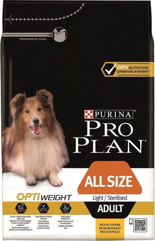 Pro Plan ALL SIZE Light/Sterilised OPTIWEIGHT mit Huhn