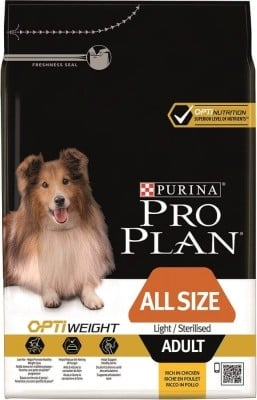 PRO PLAN All Size Adult Light/Sterilised au poulet