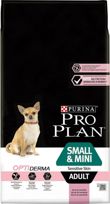 PRO PLAN Small & Mini Adult Sensitive Skin au saumon