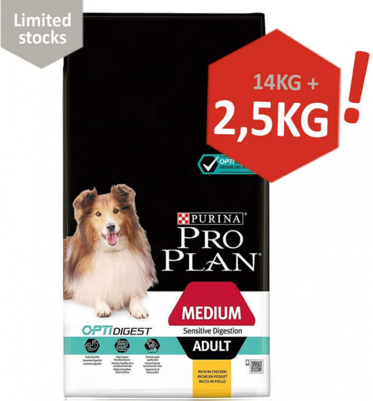 Pro Plan Medium Adult Sensitive Digestion OPTIDIGEST