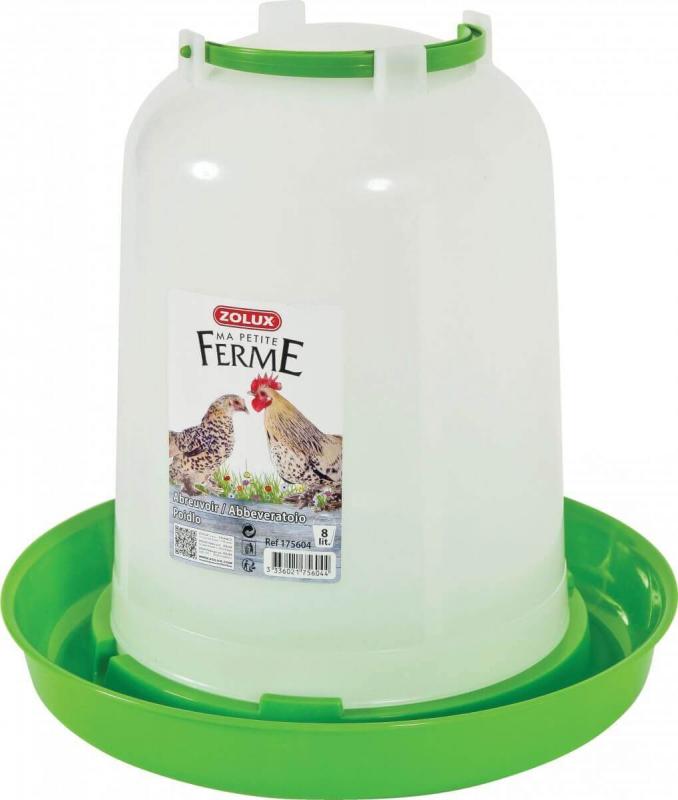 Bebedero de plástico con asa
