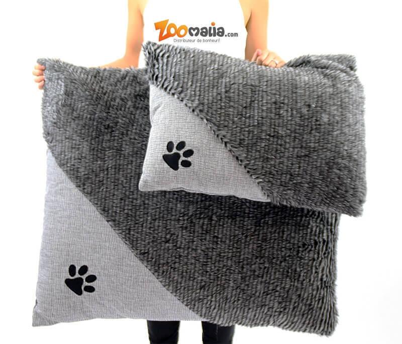 Coussin ZOLIA Cady gris de 60 à 90cm pour chien et chat_5