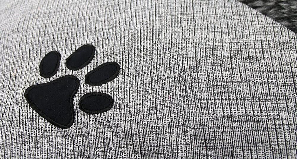 Coussin ZOLIA Cady gris de 60 à 90cm pour chien et chat_3