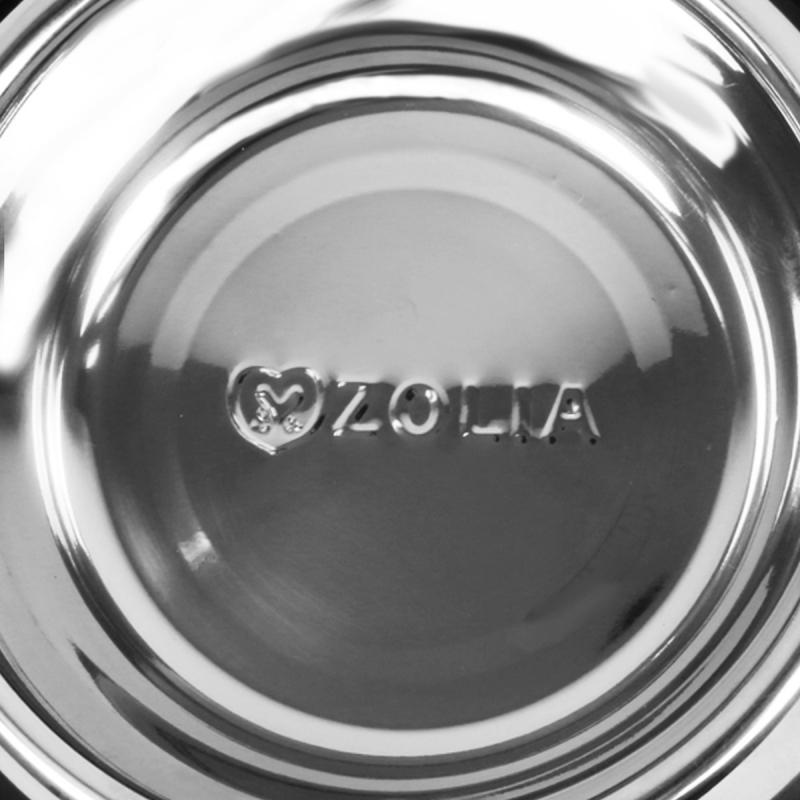 Gamelle blanche anti-dérapante ZOLIA PERLY