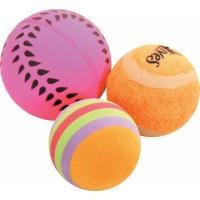 Set van 3 gevarieerde kattenballen 4 cm