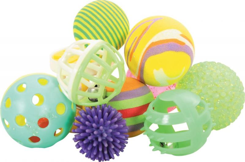 10 multi-shaped balls