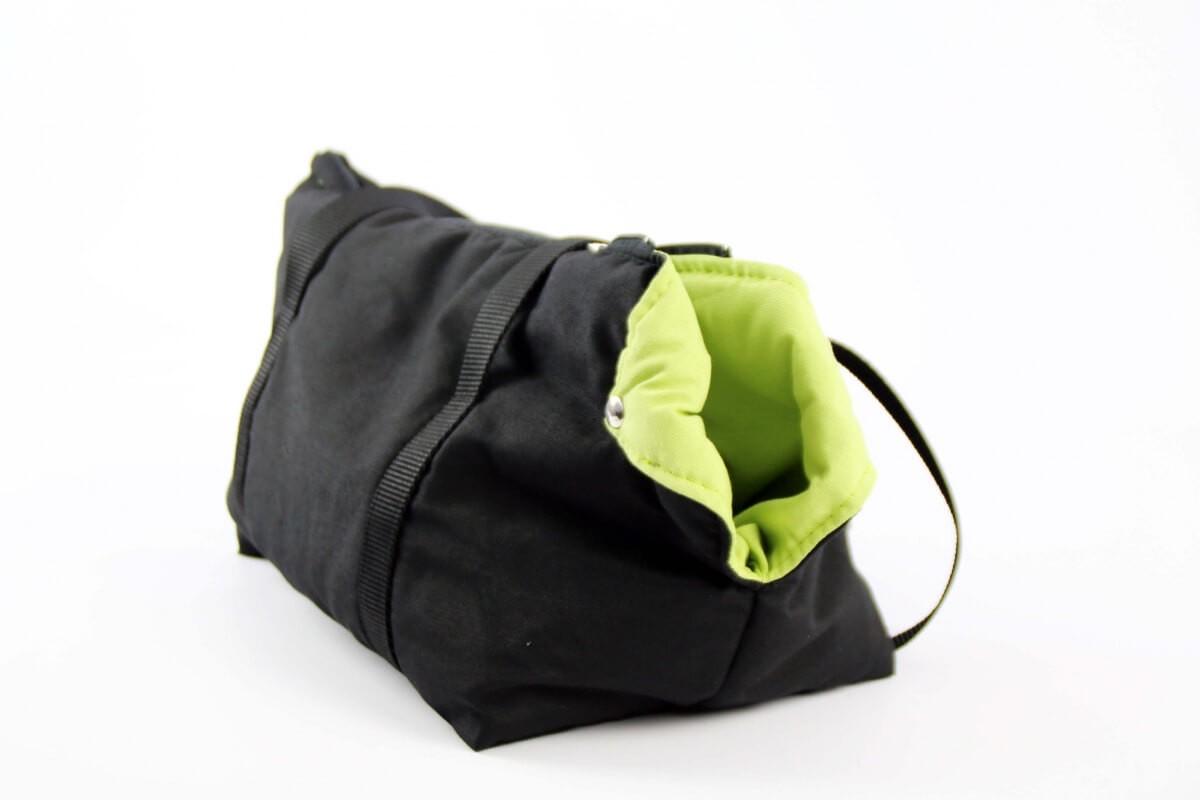 Sac de transport ZOLIA chien et chat ouatiné noir/vert_1