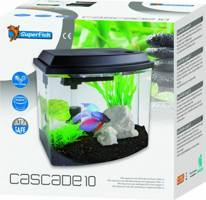 Aquarium cascade 10 noir