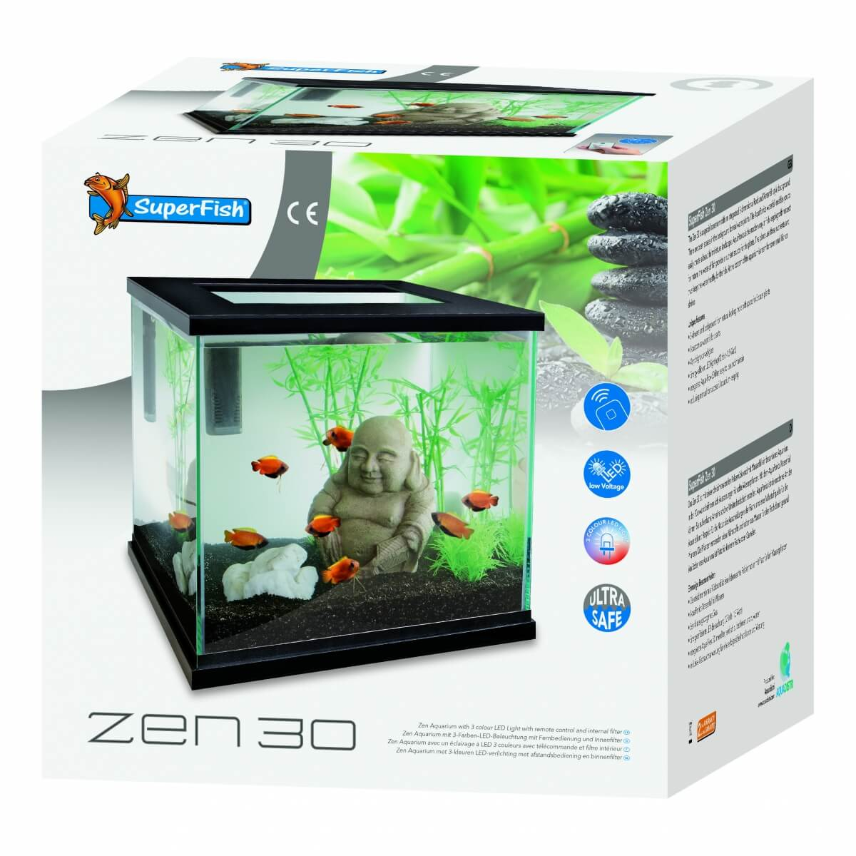 Aquarium zen 30 Superfish - blanc ou noir_2