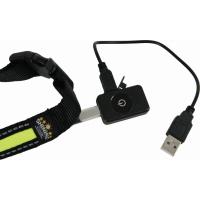 Collier LED rechargeable en nylon noir vert (3)