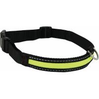 Collier LED rechargeable en nylon noir vert (1)
