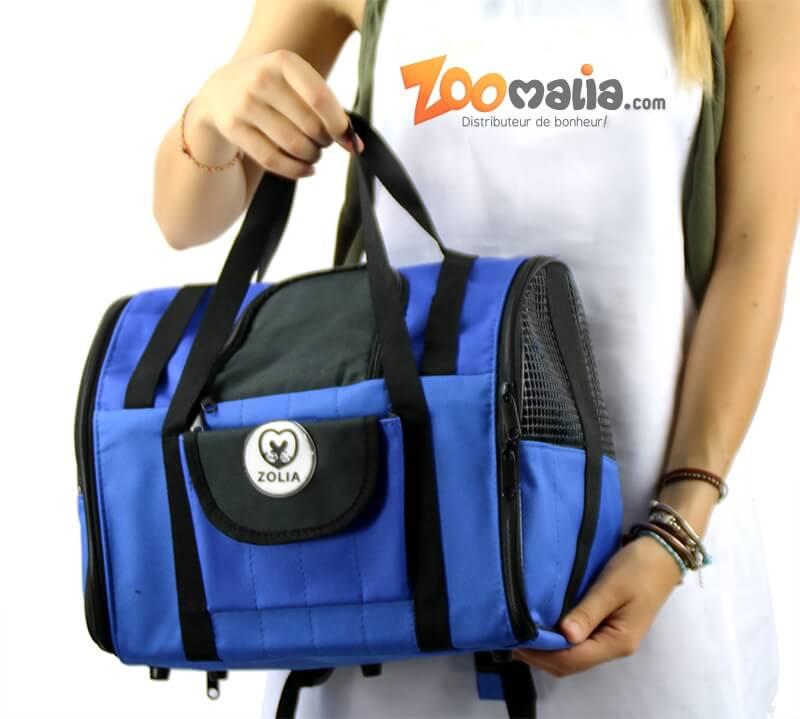 Sac de transport ZOLIA CALIO 2en1 bleu et noir_7