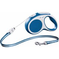 Laisse enrouleur Flexi VARIO cordon bleu