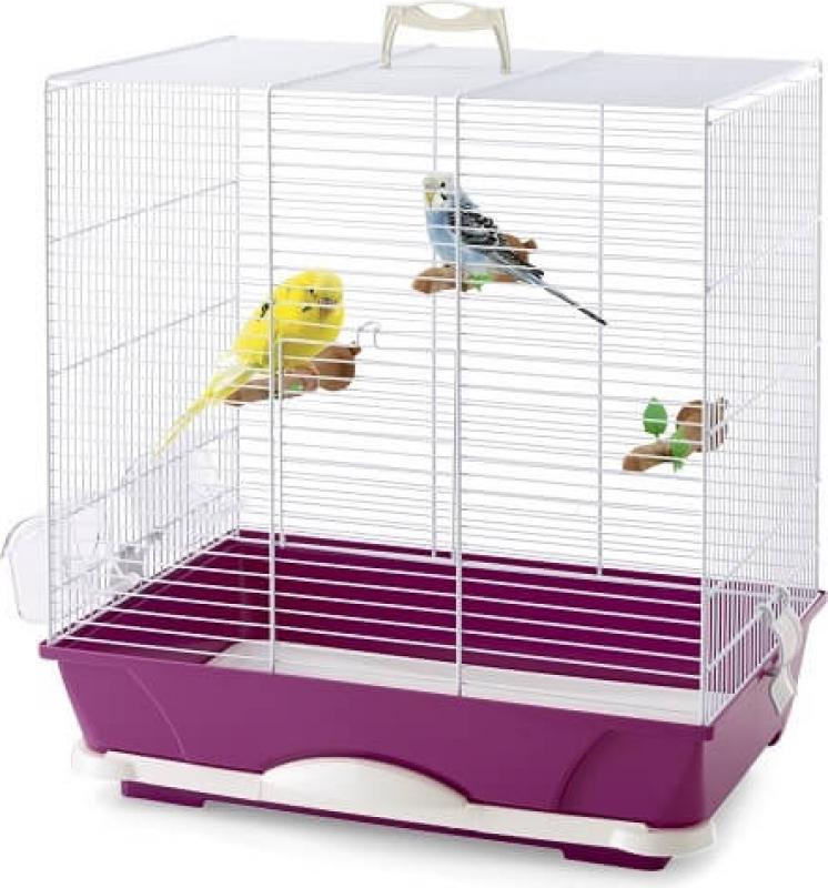 Cage PRIMO fuschia pour perruches